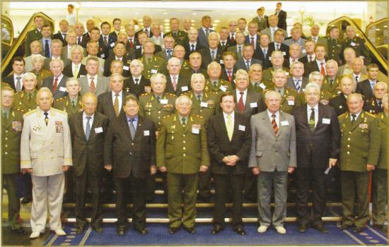 Участники международного круглого стола «Возможности использования интеллектуального потенциала ветеранов-военачальников в противодействии современным вызовам и угрозам»