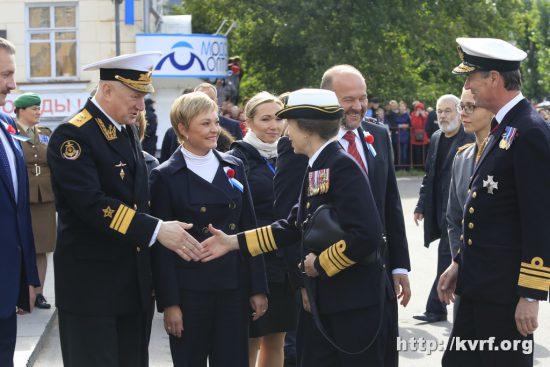 Встреча командующего Северным флотом вице-адмирала Н.А.Евменова с принцессой Анной.