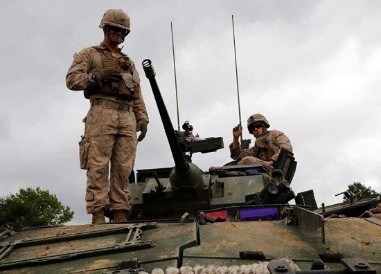 """В Польшу """"по-тихому"""" прибыла 2-я бронетанковая бригада США 2017 г."""