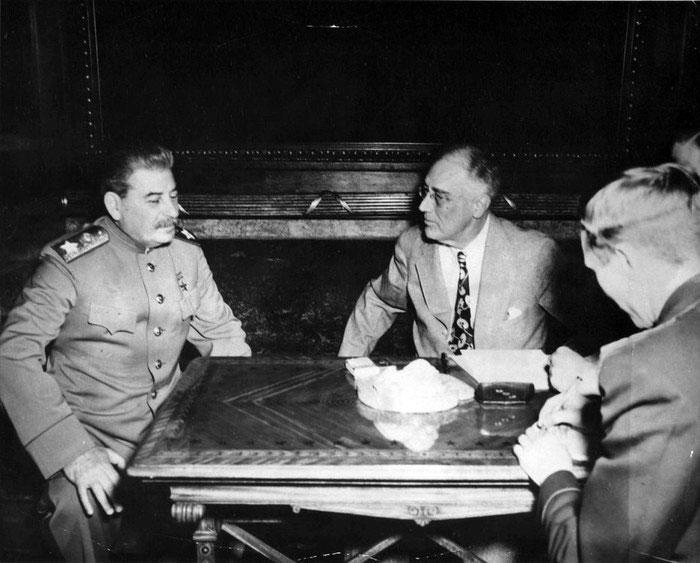 И.В. Сталин и Т. Рузвельт. Доверительный разговор.