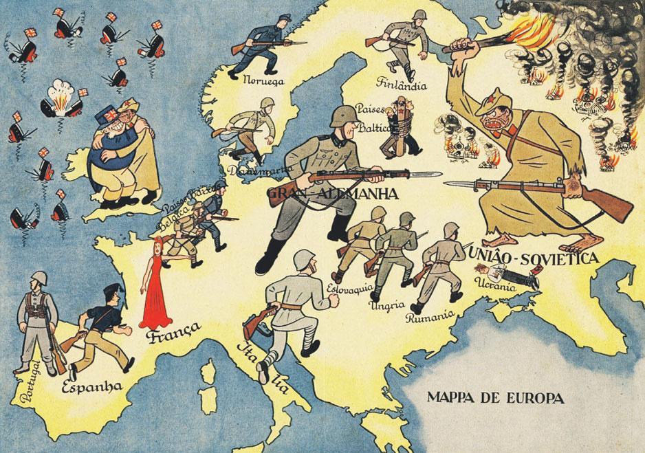 Португальский плакат 1941 года хорошо передает отношение Европы к войне